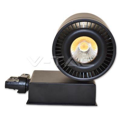 Oprawa Track Light LED V-TAC 33W 25st COB CRI95+ Czarny VT-4535 3000K 1800lm