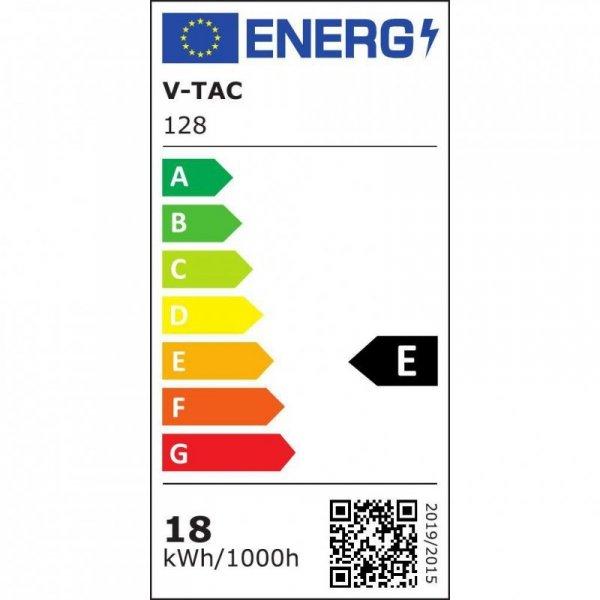 Żarówka LED V-TAC SAMSUNG CHIP 18W E27 A80 VT-298 6400K 2000lm 5 Lat Gwarancji