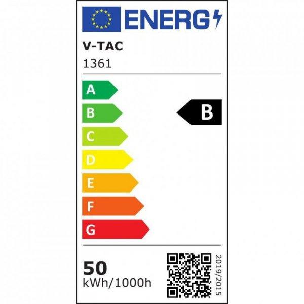 Linia Świetlna Kompletna V-TAC 50W LED 120st VT-4551D 4000K 8000lm 5 Lat Gwarancji