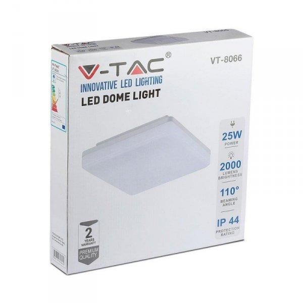 Plafon V-TAC 25W Sufitowy Light Kwadrat VT-8066 4000K 2000lm