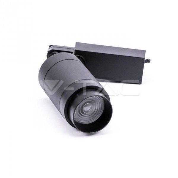 Oprawa Track Light LED V-TAC 35W Czarna Bluetooth Control Barwa 3w1 16-53st VT-7735 2800K 2350lm