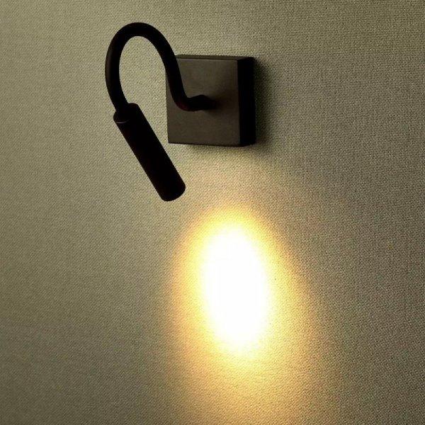 Oprawa LED V-TAC 3W Kinkiet Hotel Łóżko Czarny VT-2903 3000K 180lm 3 Lata Gwarancji