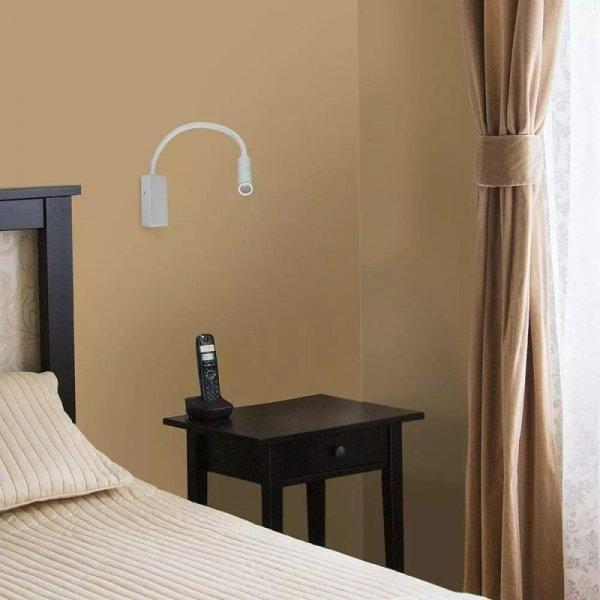 Oprawa LED V-TAC 3W Kinkiet Hotel Łóżko Biały VT-2913 3000K 180lm 3 Lata Gwarancji