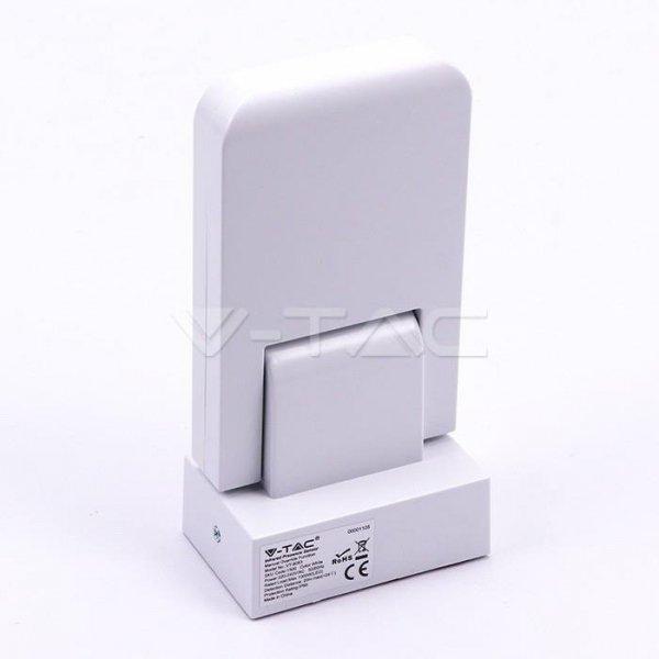 Czujnik Ruchu Podczerwień Ścienny Biały 360st 1000W LED VT-8083