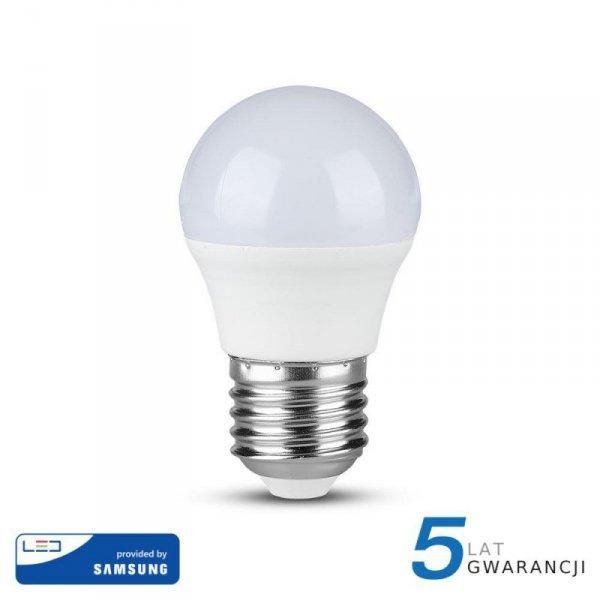 Żarówka LED V-TAC SAMSUNG CHIP 5.5W E27 G45 Kulka VT-246 4000K 470lm 5 Lat Gwarancji