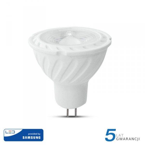 Żarówka LED V-TAC SAMSUNG CHIP 6.5W GU5.3 MR16 12V 38st VT-267 6400K 450lm 5 Lat Gwarancji