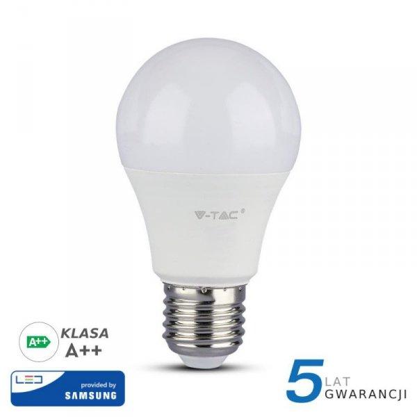 Żarówka LED V-TAC SAMSUNG CHIP 8.5W E27 A++ A60 VT-285 4000K 1055lm 5 Lat Gwarancji