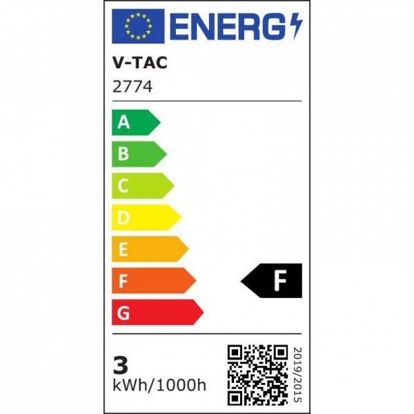 Żarówka LED V-TAC 3.5W E27 Kulka G45 Pilot VT-2224 6400K+RGB 320lm