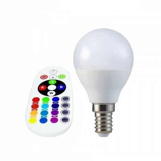 Żarówka LED V-TAC 3.5W E14 Kulka P45 Pilot VT-2234 6400K+RGB 320lm