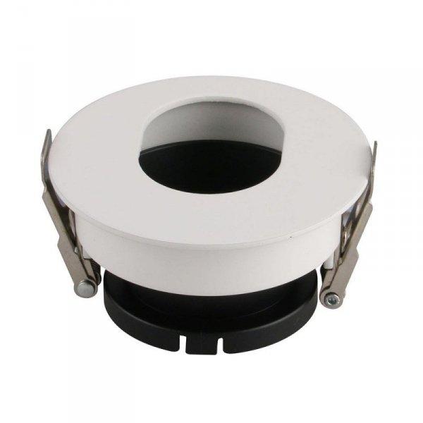 Oprawa Oczko V-TAC GU10 Asymetryczna Wpuszczana Biały/Czarny Okrągła VT-874 3 Lata Gwarancji