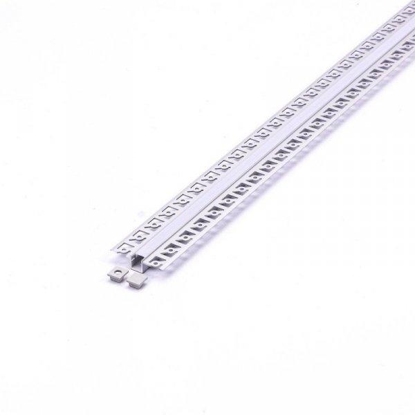 Profil Aluminiowy V-TAC 2mb Anodowany, Klosz Mleczny, Do gipsowania VT-8102