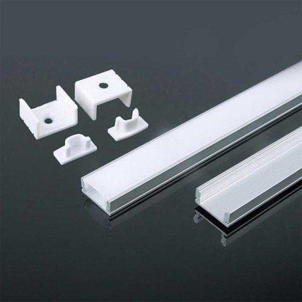 Profil Aluminiowy V-TAC 2mb Biały, Klosz Mleczny VT-8113-W 5 Lat Gwarancji