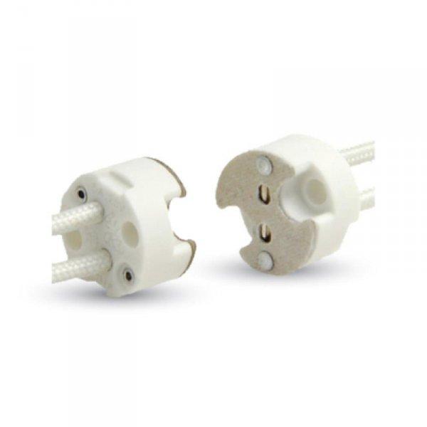 Oprawka GU5,3 Ceramiczna MR16 Przewód Siliconowy V-TAC VT-7889