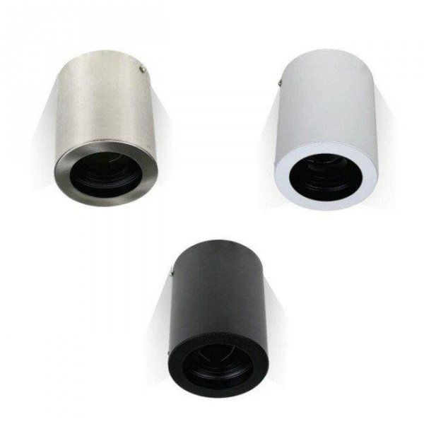 Oprawa V-TAC Aluminiowa GU10 Okrągła Natynkowa Tuba Satyna+Czarny 142x100 VT-796