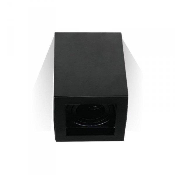Oprawa V-TAC Aluminiowa GU10 Kostka Kwadrat Natynkowa Czarna 142x100x100 VT-797