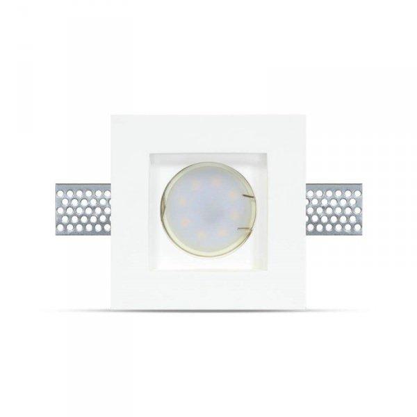 Oprawa Oczko V-TAC GIPS GU10 Wpuszczana Kwadrat 100x100x30 Biały VT-765