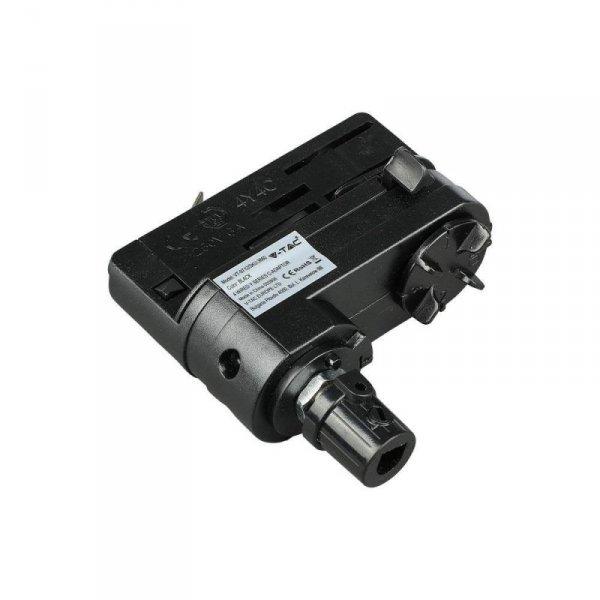 Adaptor Szynoprzewodu V-TAC Track Light 3 fazowy Czarny