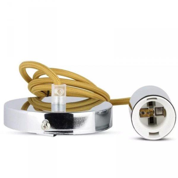 Oprawa Wisząca V-TAC Chrom Metal Beżowy przewód VT-7338 5 Lat Gwarancji