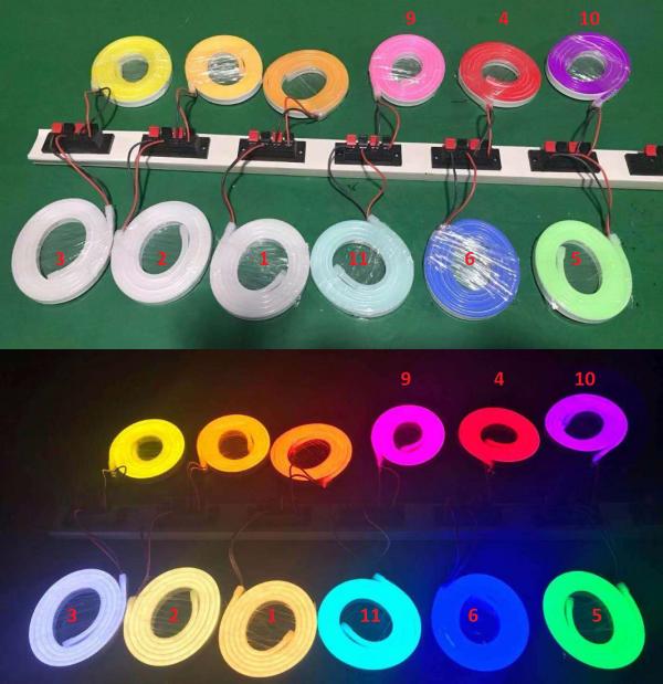 NEON LED 12V 8X16 PCV 1M RÓŻNE KOLORY 10cm IP67