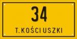 Tabliczka adresowa 31 cm x 16 cm (tłoczona)