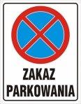 Zakaz parkowania (pionowa)