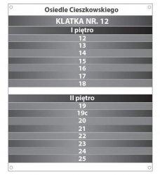 Tablica klatka schodowa 30/35cm (odblask)