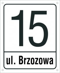 Tabliczka adresowa 30,5 cm x 37 cm