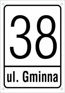 Tabliczka adresowa 21 cm x 29,7 cm (odblask)