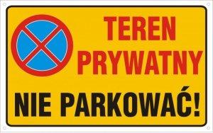 Teren prywatny nie parkować