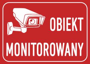 Tabliczka obiekt monitorowany 21/14,8cm (odblask)