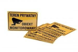 Teren prywatny Obiekt monitorowany 30 cm x 21 cm