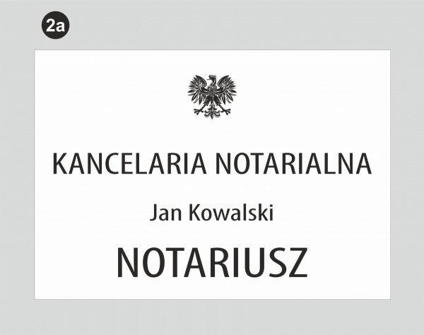Tablica dla kancelarii notarialnej wzór 2a