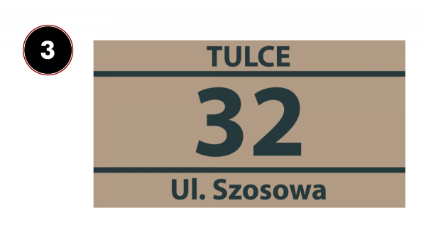 Tabliczka numer na dom 31/15cm