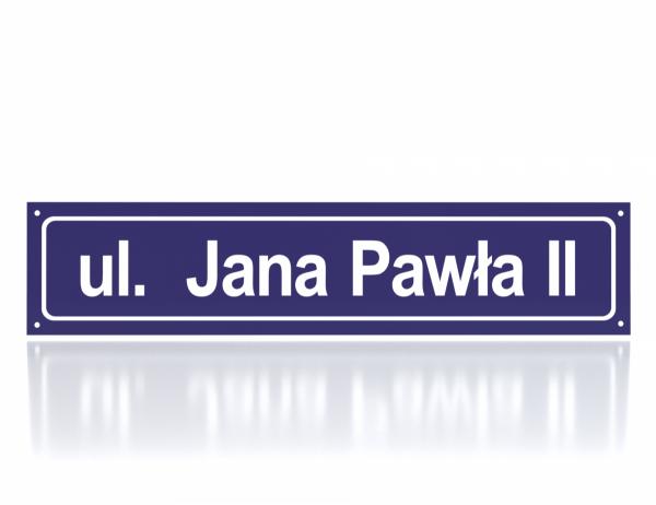 Tablica adresowa z nazwą ulicy