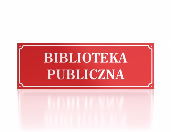 Tablica urzędowa Biblioteka Publiczna
