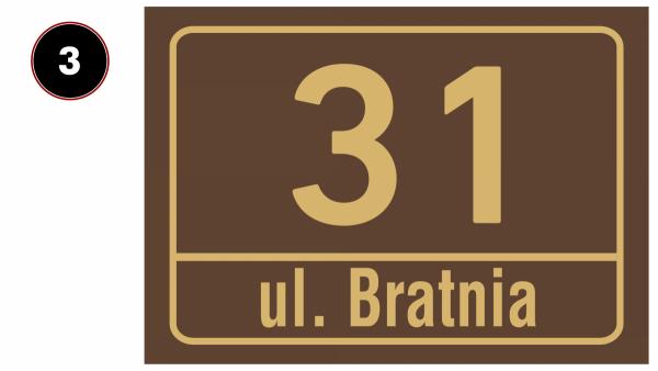 Tabliczka adresowa 42/29,7cm