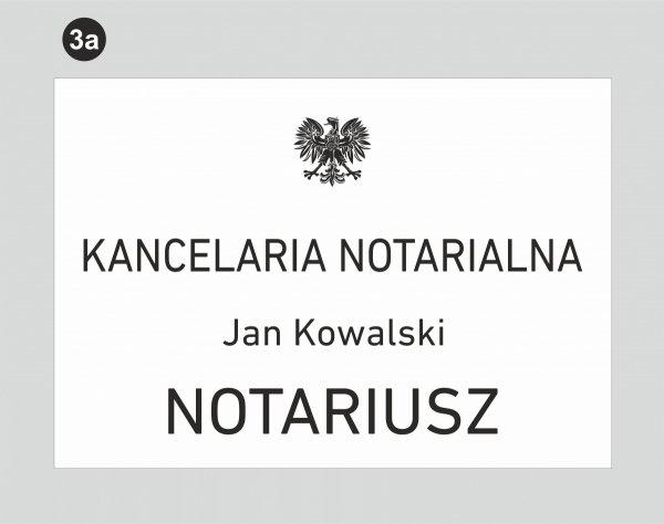Tablica dla kancelarii notarialnej wzór 3a