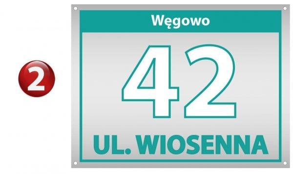 Tablica numery na dom 30/22 cm (odblask)