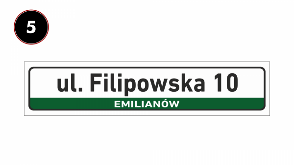 Tabliczka adresowa z nazwą ulicy