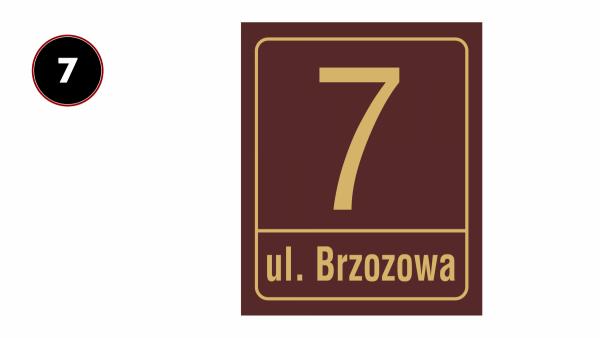 Tablica adresowa 30,5/37cm