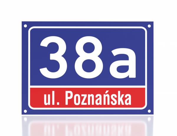 Tablica adresowa 29,7/21cm odblaskowa
