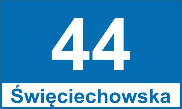 Tablica adresowa Leszno 30/18cm