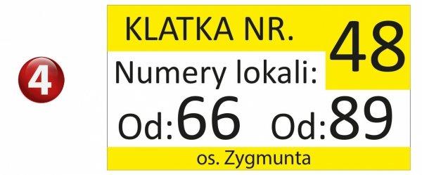 Tablica na klatkę schodową 33/18cm (odblask)