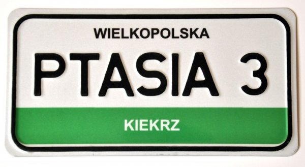 Tabliczka adresowa (jak tablica amerykańska)
