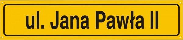 Tablica z nazwą ulicy 75 cm x 16,5 cm (odblask)