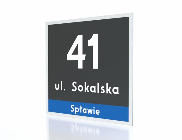 Tabliczka adresowa Poznań 23/22cm