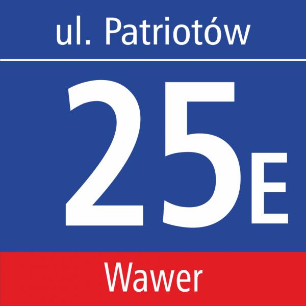 Tablica adresowa Warszawa 35cm x 35cm
