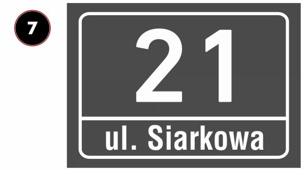 Tabliczka na dom 42/29,7cm