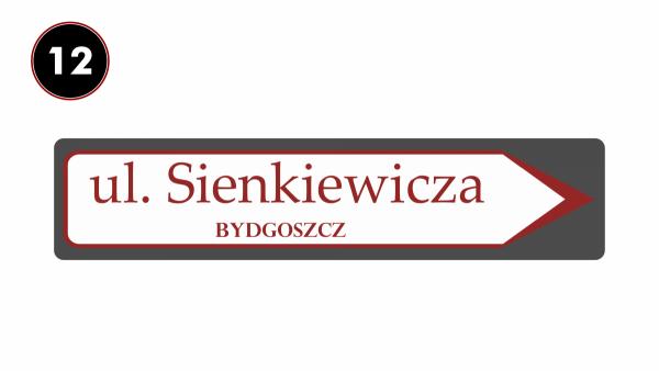Tablica kierunkowa z nazwą ulicy