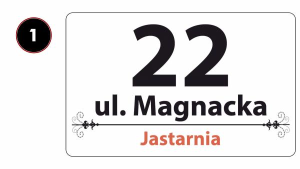 Tablica adresowa na dom 40/22cm
